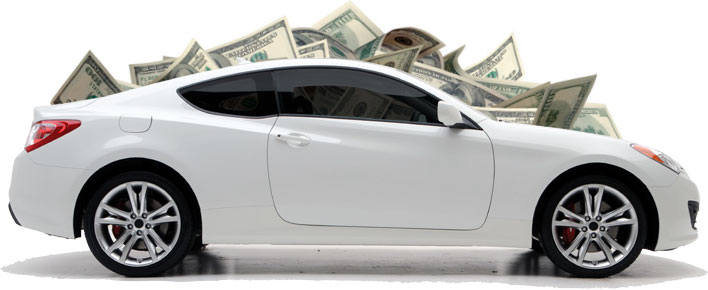 Money on the car.